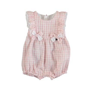 Picture of Mayoral Baby Girl Pink Checked Romper