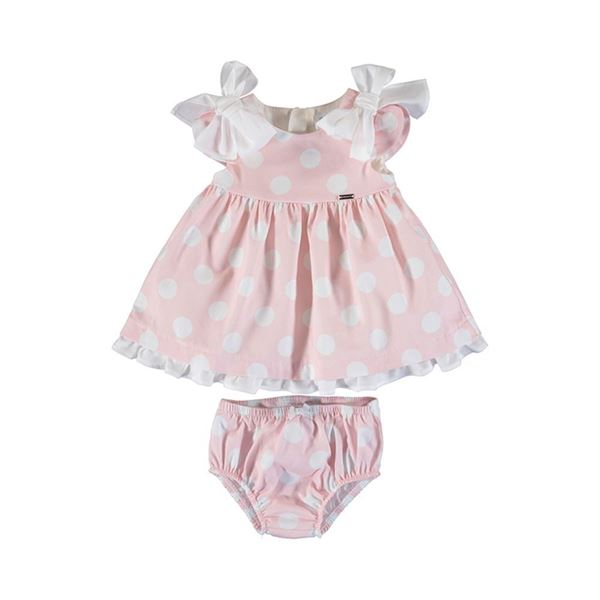 Picture of Mayoral Baby Girls Pink Spotty Top & Knickers