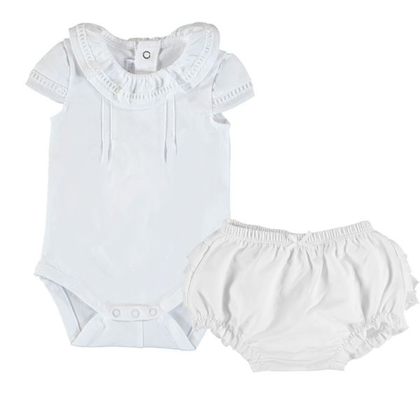 Picture of Mayoral Baby Girl White Knicker Set