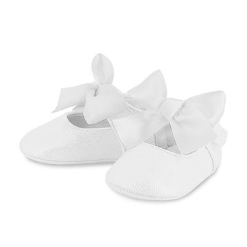 Picture of Mayoral Baby Girl White Pram Shoes