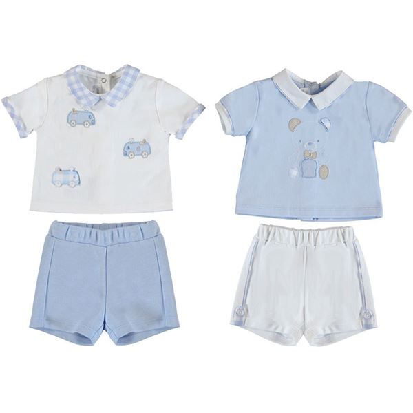 Picture of Mayoral Baby Boy Blue Set of 2 Short Set
