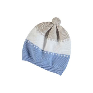Picture of Mayoral Baby Boy Blue Knitted Stripe Hat