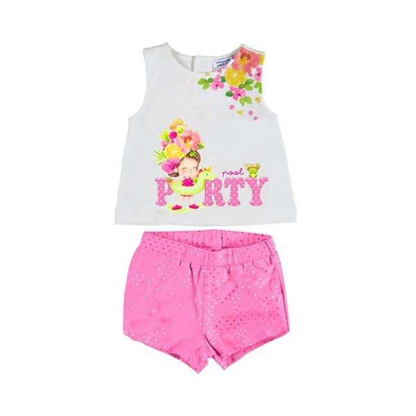 Picture of Mayoral Baby Girl Pink Pool Party Short Set
