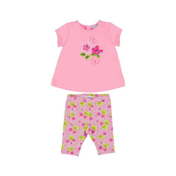 Picture of Mayoral Baby Girls Pink Flower Leggings Set