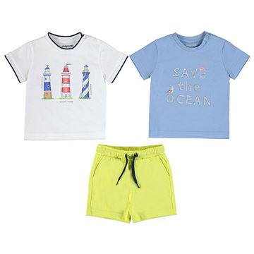 Picture of Mayoral Baby Boy Lime Green 2 T-Shirt & Short Set
