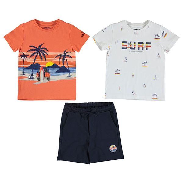 Picture of Mayoral Boys 3 Piece Orange 'Surf'  Short Set