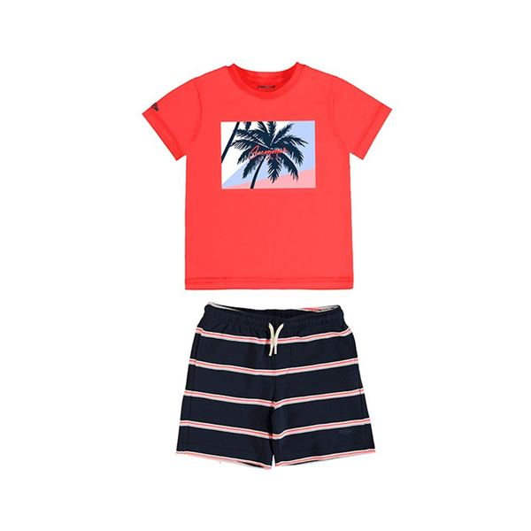 Picture of Mayoral Boys 2 Piece Red Palm Tree Short Set