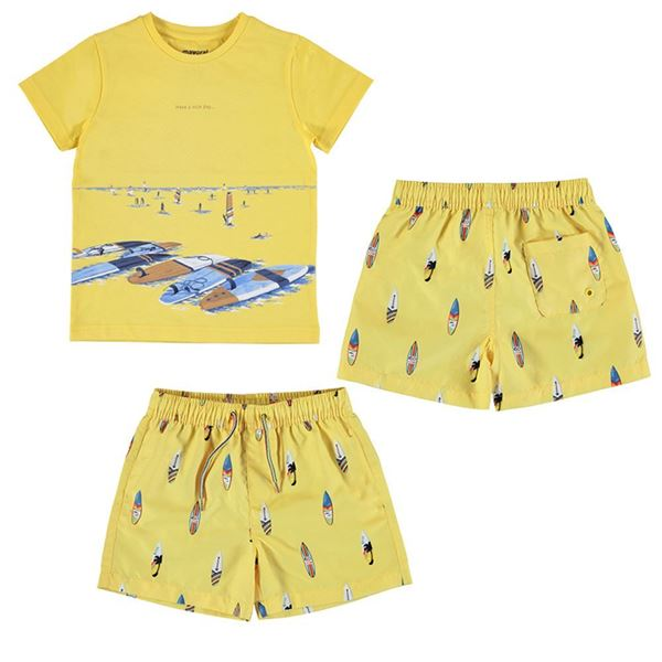 Picture of Mayoral Boys 2 Piece Yellow Surf Swim Set