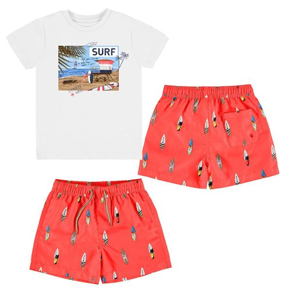 Picture of Mayoral Boys 2 Piece Red Surf Swim Set