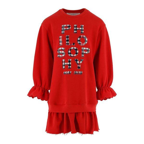 Picture of Philosophy Di Lorenzo Girls Red Jumper Dress