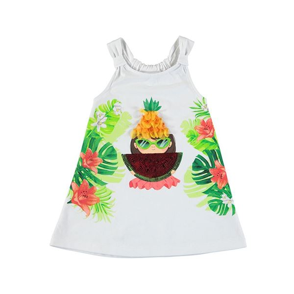 Picture of Mayoral Girls White Watermelon Dress