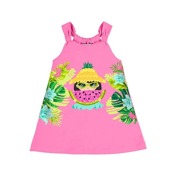 Picture of Mayoral Girls Pink Watermelon Dress