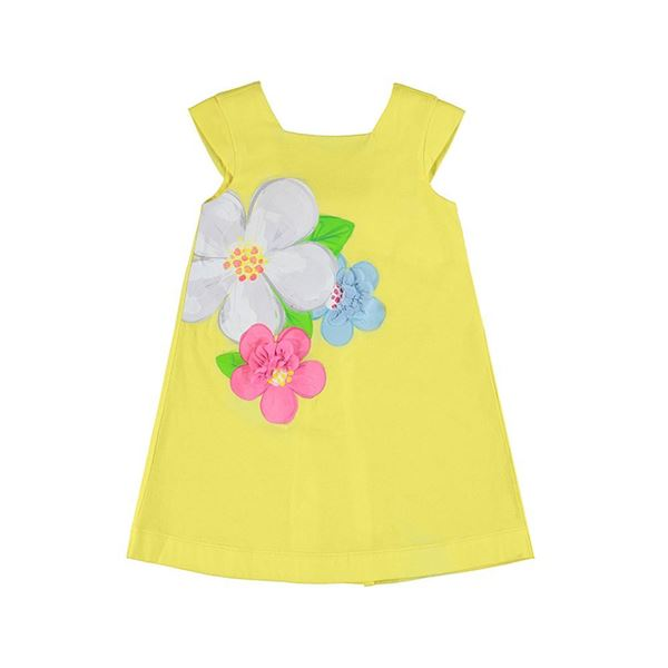 Picture of Mayoral Girls Yellow Flower Dress