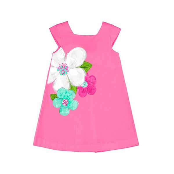 Picture of Mayoral Girls Pink Flower Dress