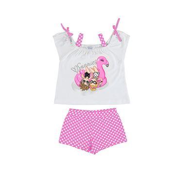 Picture of Mayoral Girls Pink Polka Dot Short Set