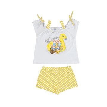 Picture of Mayoral Girls Yellow Polka Dot Short Set