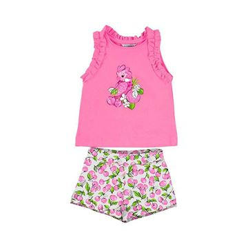 Picture of Mayoral Girls Pink Parrot Short Set