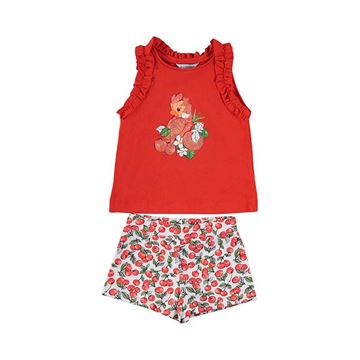 Picture of Mayoral Girls Red Parrot Short Set
