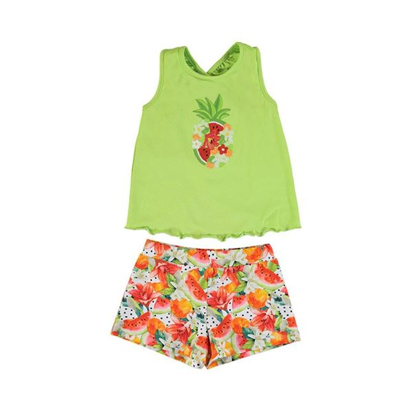Picture of Mayoral Girls Green Watermelon Short Set