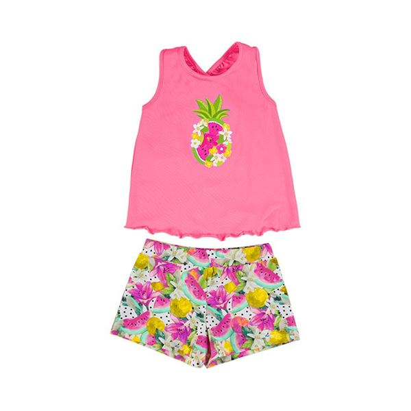 Picture of Mayoral Girls Pink Watermelon Short Set