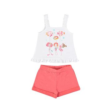 Picture of Mayoral Girls Coral Fish Short Set