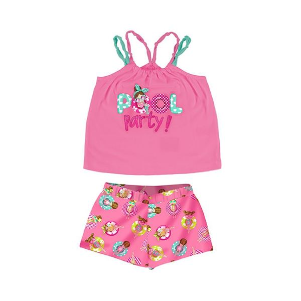 Picture of Mayoral Girls Pink Pool Party Short Set