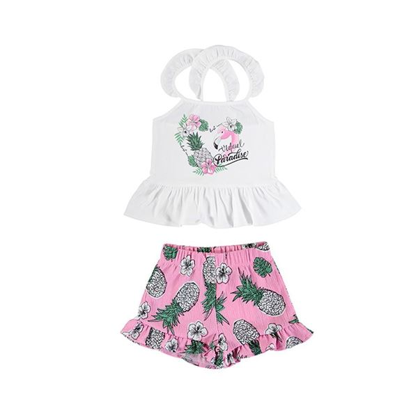 Picture of Mayoral Girls Pink Pineapple Short Set