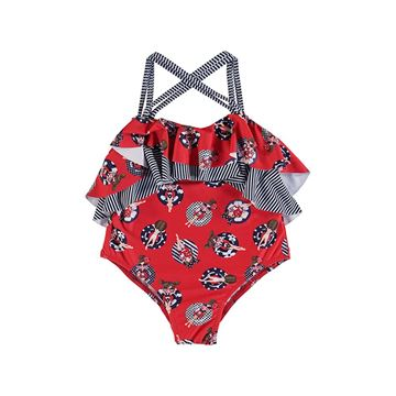 Picture of Mayoral Girls Red & Navy Swimming Costume