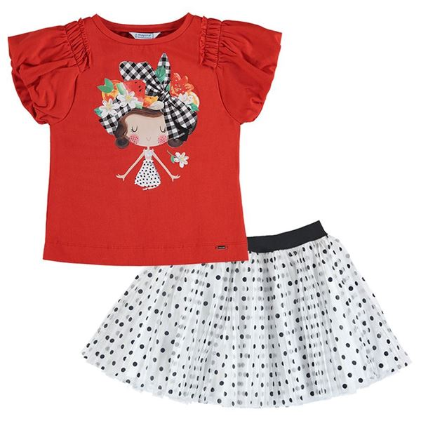 Picture of Mayoral Girls Spotty Skirt Set