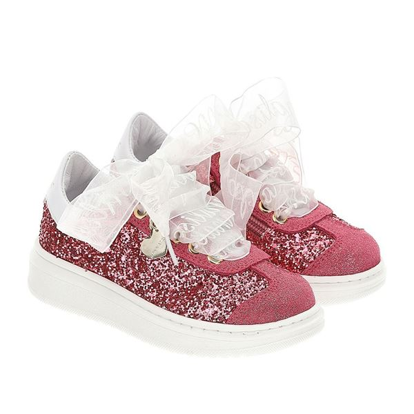 Picture of Monnalis Girls Pink Glitter Trainers