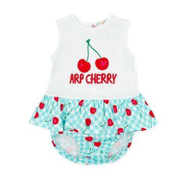 Picture of Agatha Ruiz De La Prada Baby Girl Blue Cherry Dress & Knickers