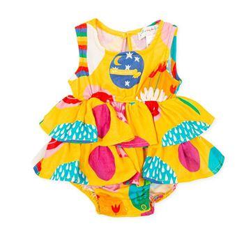 Picture of Agatha Ruiz De La Prada Baby Girls Yellow Printed Romper