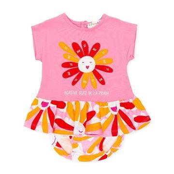 Picture of Agatha Ruiz De La Prada Baby Girl Pink Flower Dress & Knickers