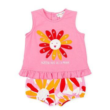 Picture of Agatha Ruiz De La Prada Baby Girls Pink Flower Short Set