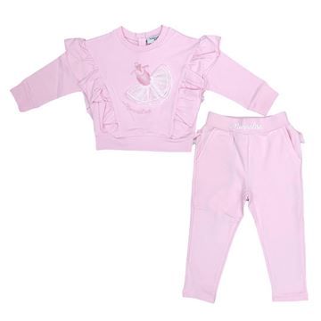 Picture of Monnalisa Baby Girls Pink Tracksuit
