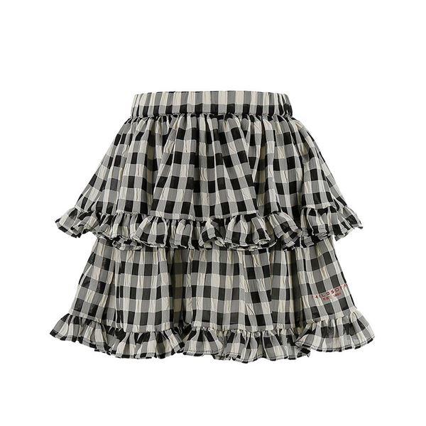 Picture of Philosophy Di Lorenzo Girls Black & White Checked Skirt