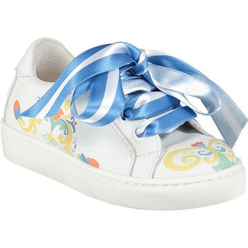 Picture of Ariana Dee Girls White Porto In The Sun Trainers