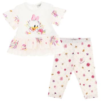 Picture of Monnalisa Baby Girl Daisy Duck Top & Leggings Set