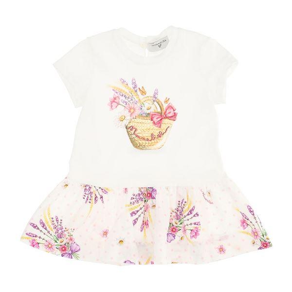Picture of Monnalisa Baby Girls White Daisy Duck Dress