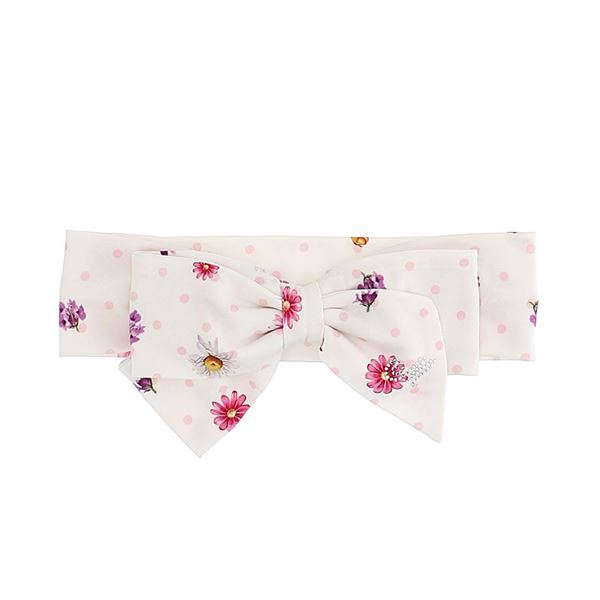 Picture of Monnalisa Baby Girls Flower Soft Hairband