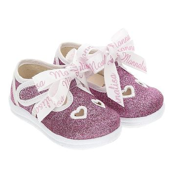 Picture of Monnalisa Baby Girls Pink Glitter Shoes