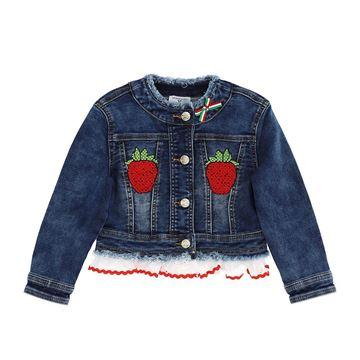 Picture of Monnalisa Girls Strawberry Denim Jacket