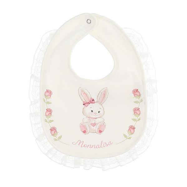 Picture of Monnalisa Baby Girl Bunny Bib