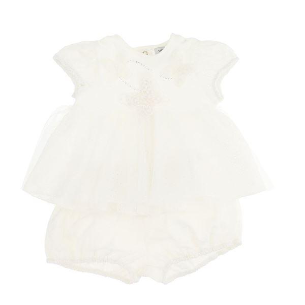 Picture of Monnalisa Baby Girl Cream Romper