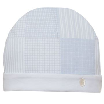 Picture of Patachou Baby Boys Blue Checked Hat