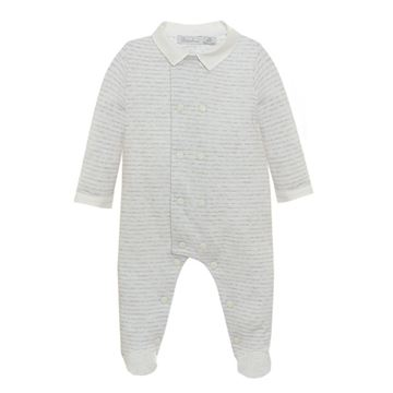 Picture of Patachou Baby Boys Grey Striped Babygrow