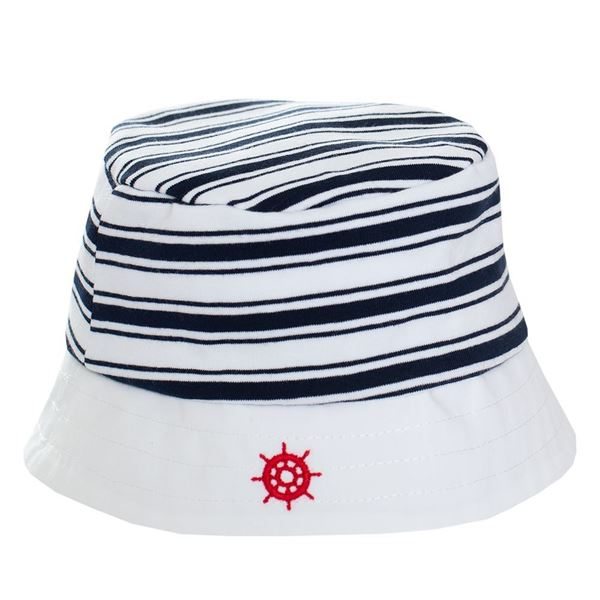 Picture of Patachou Baby Boys Navy Stripe Hat