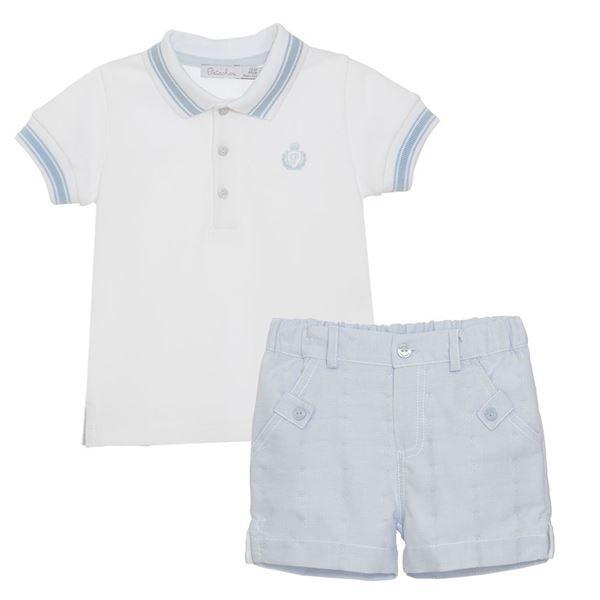Picture of Patachou Boys Blue Top & Shorts Set