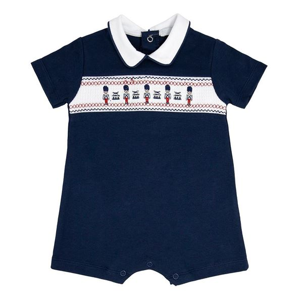 Picture of Blues Baby Boys Navy Soldier Romper