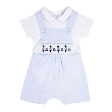 Picture of Blues Baby Boys Blue Soldier Dungaree Set